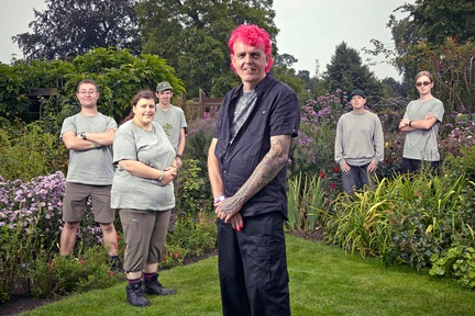 Alan Gardner with his team from The Autistic Gardener