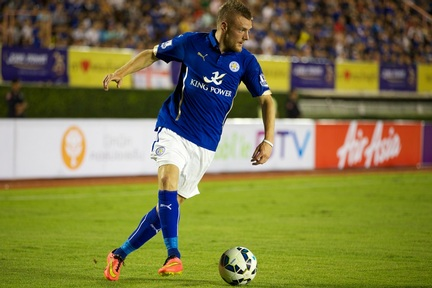 Leicester City's striker Jamie Vardy -  Credit attribution: mooinblack/Shutterstock.com