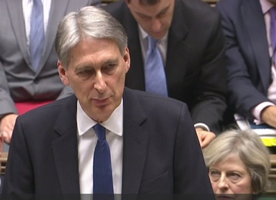 Chancellor Philip Hammond delivering the Government's Autumn Statement