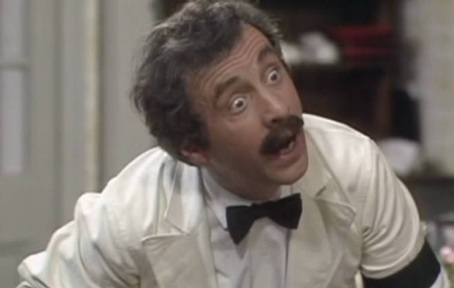 Manuel the hapless Spanish waiter in Fawlty Towers  played by Andrew Sachs CredIt: BBC
