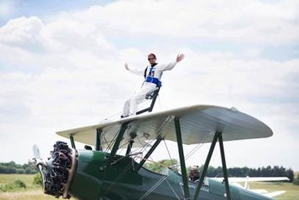 'The wing-walk was an overwhelming experience'