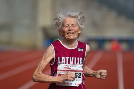 Credit: Alex Rotas Photography - Latvia's Leontine Vitola, aged 79