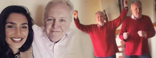 Dad dancing with dementia gets thumbs up with daughter's Instagram posts