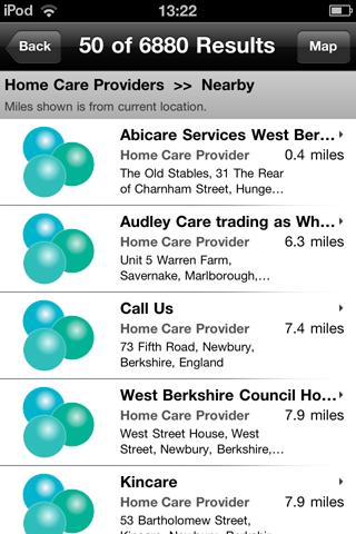 Home Care iPod App