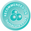 Recommended on homecare.co.uk Stamp